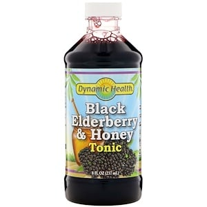 Сироп черной бузины, Black Elderberry, Dynamic Health, 237 мл