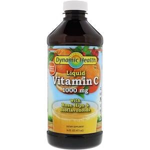 Витамин С, цитрусовый аромат, Liquid Vitamin C, Dynamic Health, жидкий, 1000 мг, 473 мл