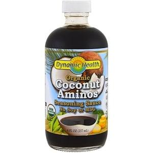 Кокосовый соус с аминокислотами, Coconut Aminos, Dynamic Health Laboratories, органик, 237 мл