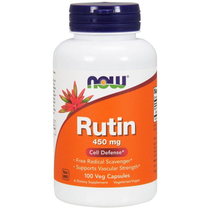 Рутин, Rutin, Now Foods, 450 мг, 100 капсул