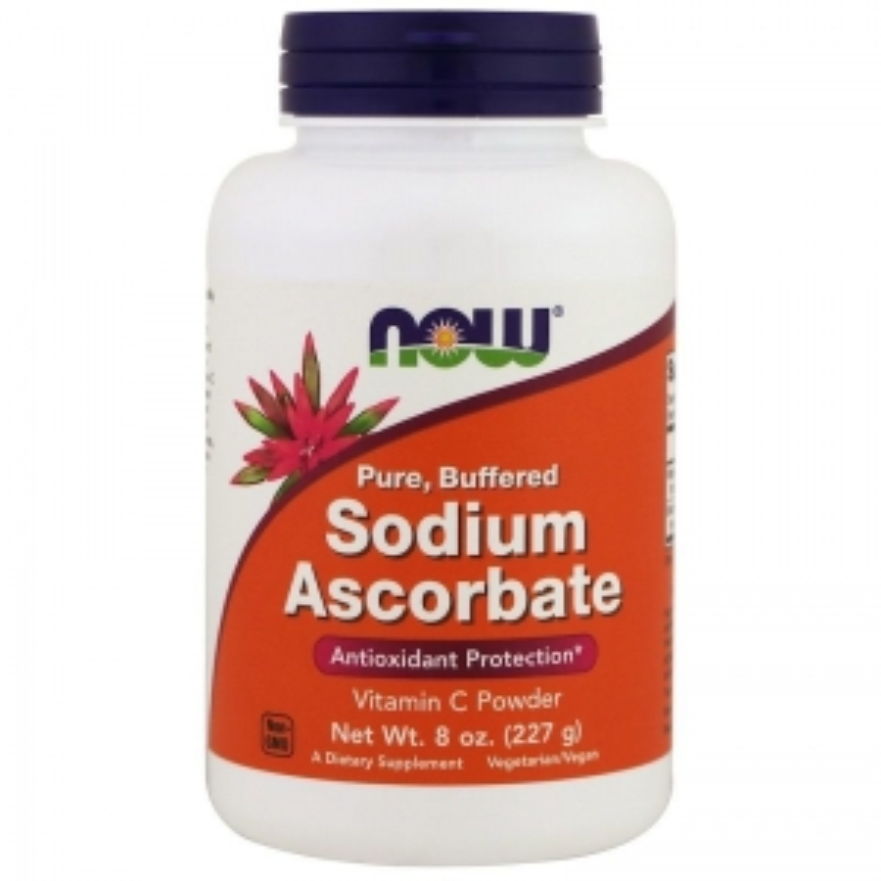 Аскорбат натрия, Sodium Ascorbate, Now Foods, 227 г.