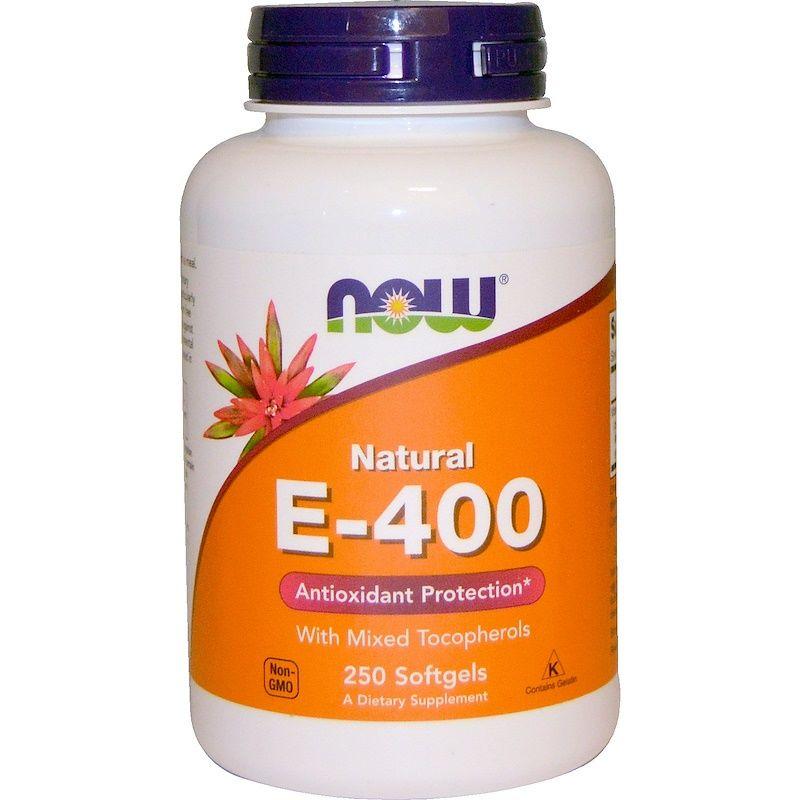 Витамин Е, Mixed, Now Foods, 400, 250 капс.