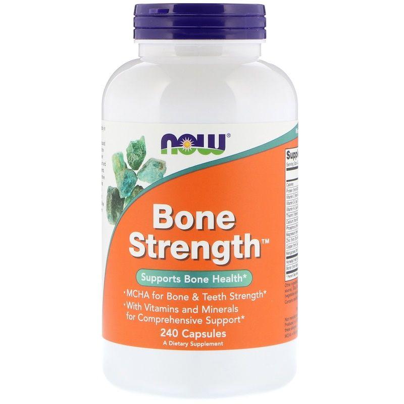 Прочные кости, Bone Strenght, Now Foods, 240 капсул