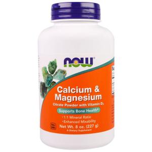 Кальций и магний, Calcium Magnesium, Now Foods, 1:1, 227 г