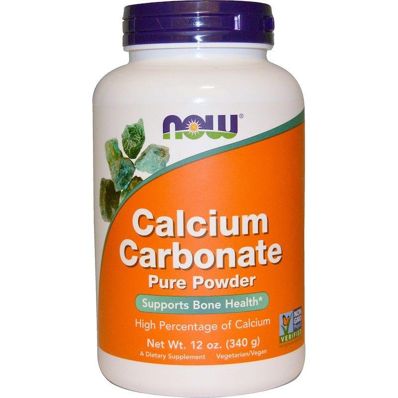 Карбонат кальция (порошок), Calcium Carbonate, Now Foods, 340 г