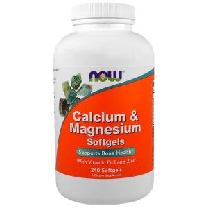 Кальций и магний, Calcium & Magnesium, Now Foods, комплекс, 240 капс.