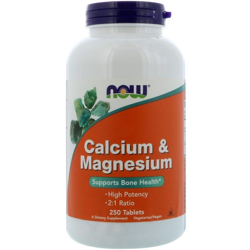 Кальций и магний, Now  Foods, 250 таблеток