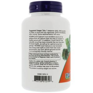 Коралловый кальций, Coral Calcium, Now Foods, 170 г