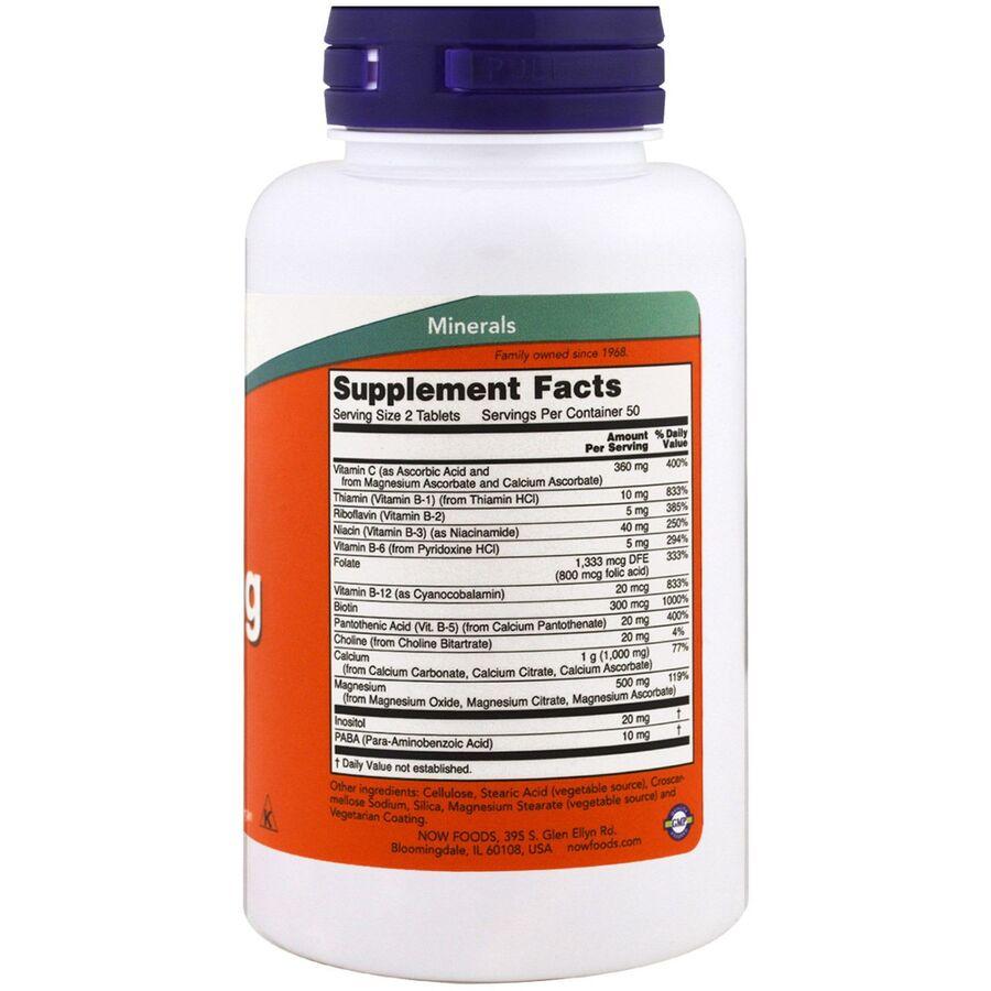 Кальций и магний, стресс формула, Cal-Mag, Now Foods,100 таблеток