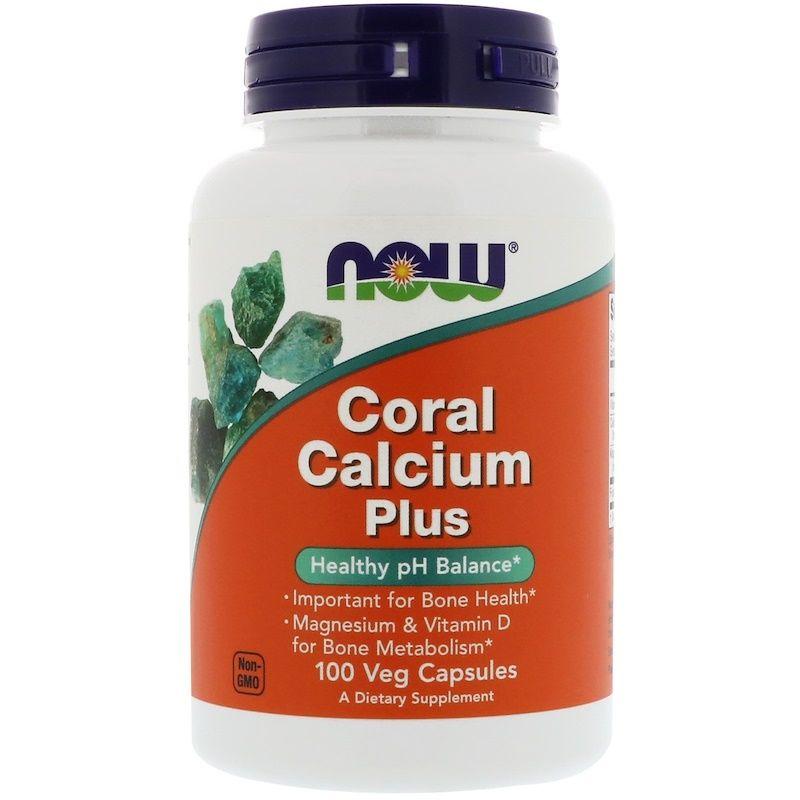 Коралловый кальций, Now Foods, 100 капсул