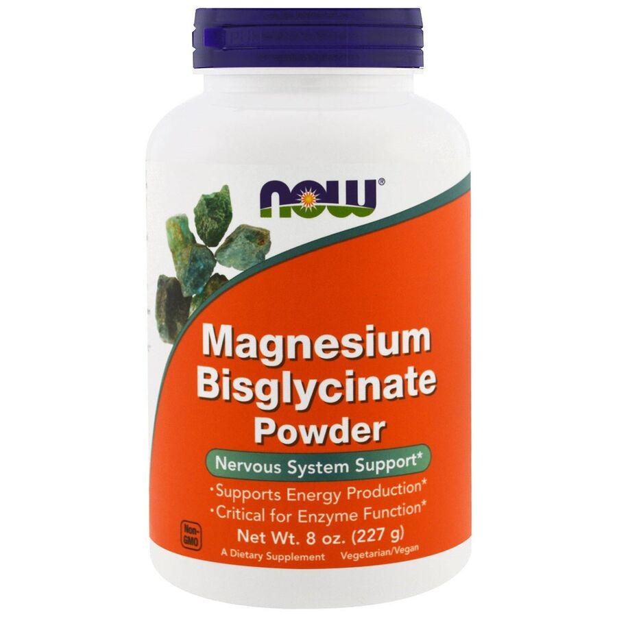 Магний бисглицинат, Magnesium Bisglycinate, Now Foods, 227 г.