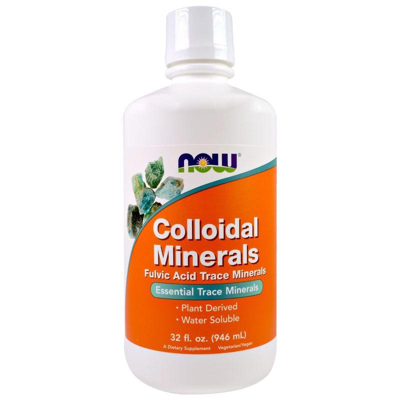 Коллоидные минералы, Colloidal Minerals, Now Foods, 946 мл.