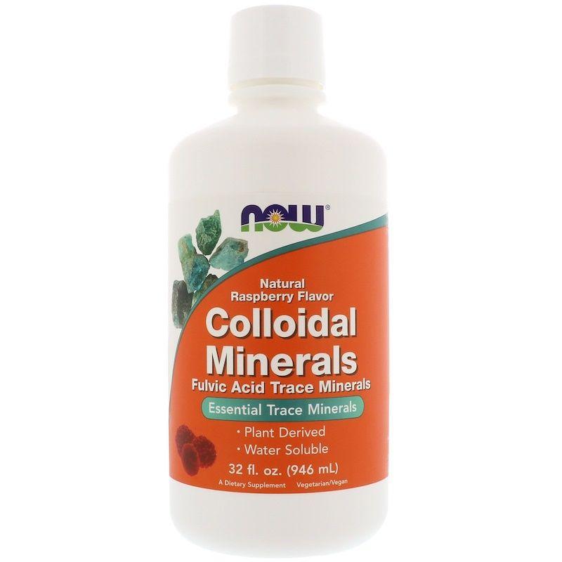 Коллоидные минералы с малиной, Colloidal Minerals, Now Foods, 946 мл.