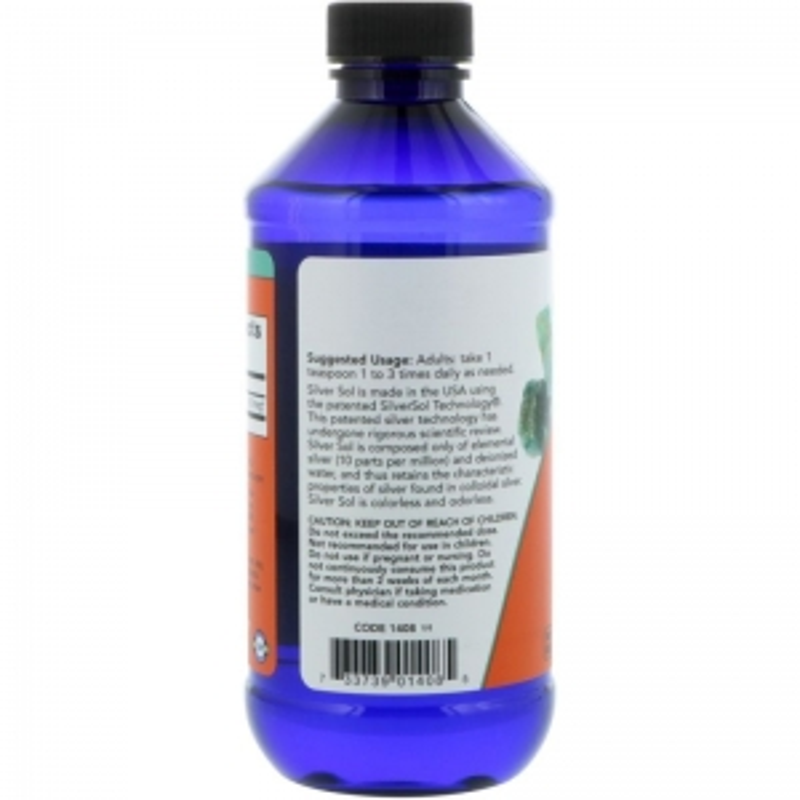 Гидрозоль серебра (коллоидное серебро), Silver Sol, Now Foods