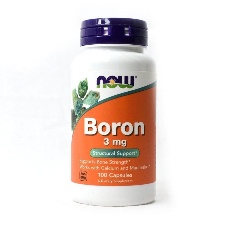 Бор, Now Foods, 3 мг.