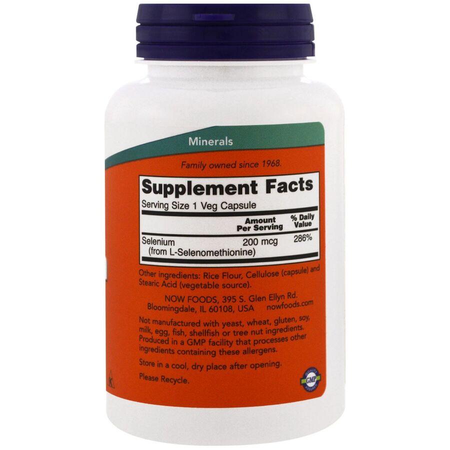 Селен (Selenium), без дрожжей, Now Foods, 200 мкг