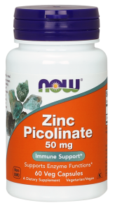Пиколинат цинка, Zinc Picolinate, Now Foods, 50 мг