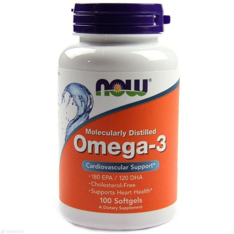 Омега-3, рыбий жир, Now Foods, молекулярно дистиллированный