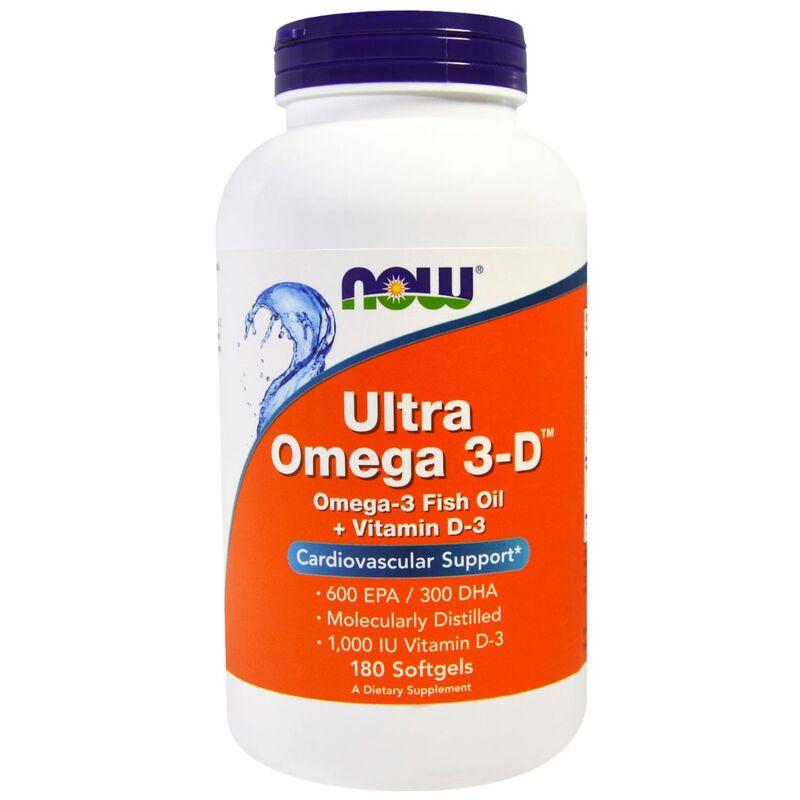 Омега 3 - Д ультра, Omega 3-D, Now Foods, 180 гелевых капсул