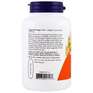 Масло черной смородины, Black Currant Oil, Now Foods, 1000 мг, 100 капс.
