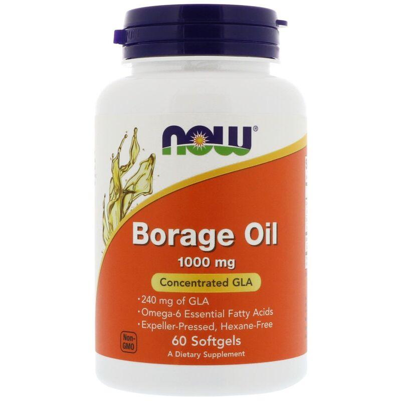 Масло огуречника (Borage Oil), Now Foods, 60 капсул