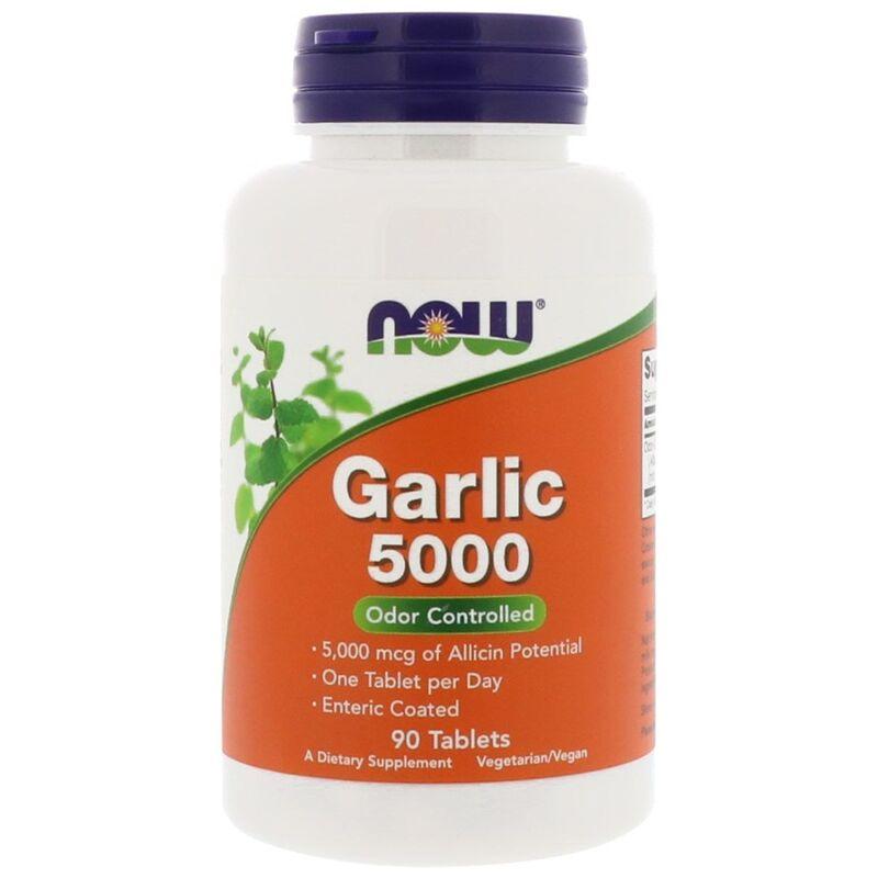 Чеснок 5000, экстракт, Garlic, Now Foods, 90 табл