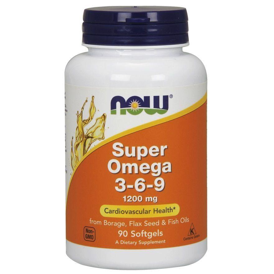 Супер омега 3 6 9, Now Foods, 1200 мг