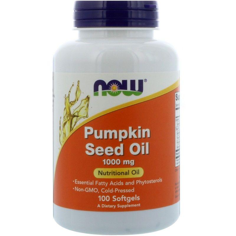 Тыквенное масло, Pumpkin Seed Oil, Now Foods, 1000 мг, 100 капсул