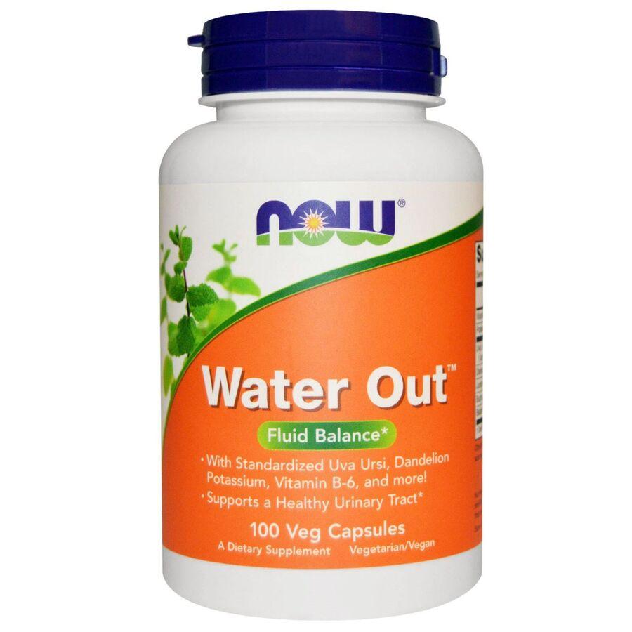 Мочегонное средство, травяное, Water Out, Now Foods, 100 кап.