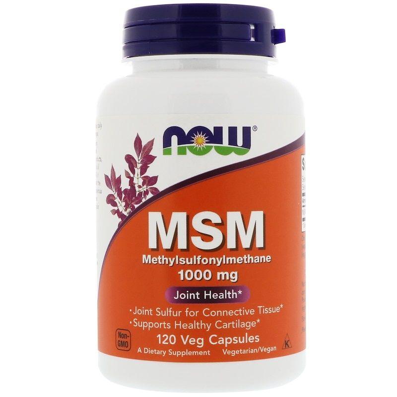Метилсульфонилметан, MSM, Now Foods, 1000 мг