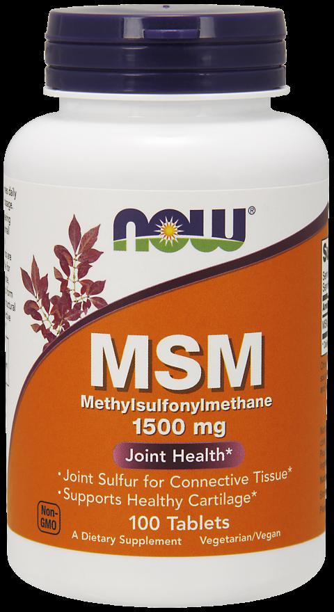 Метилсульфонилметан, Now Foods, 1500 мг, 100 таблеток