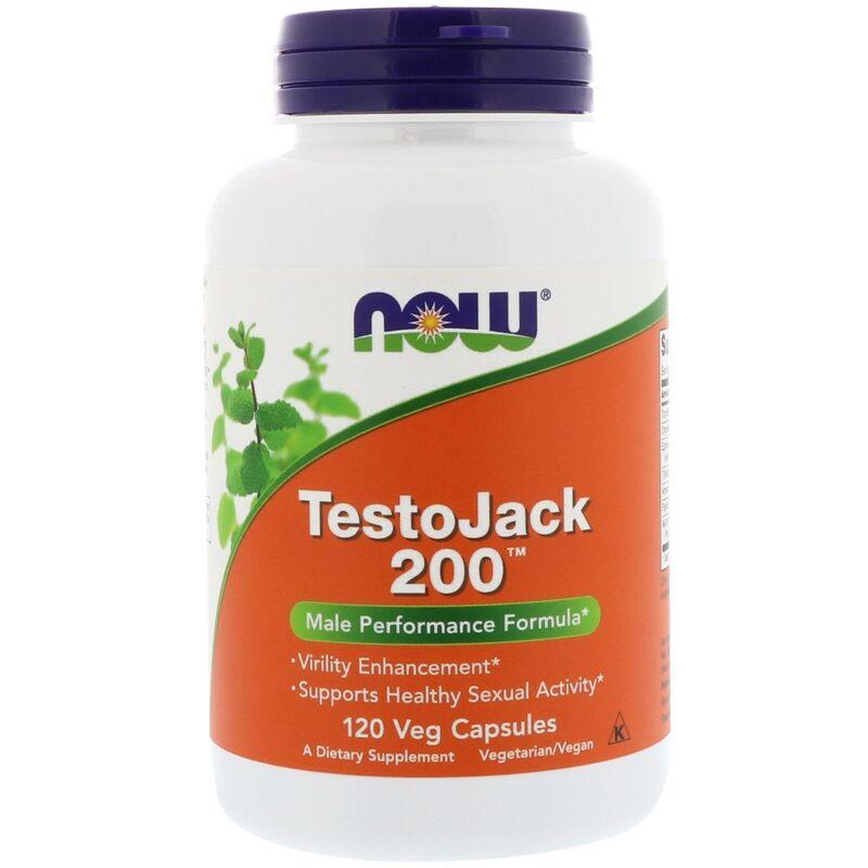 Репродуктивное здоровье мужчин, TestoJack 200, Now Foods