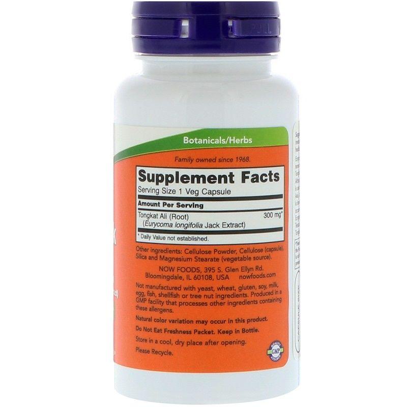 Репродуктивное здоровье мужчин, TestoJack, Now Foods, 300 мг, 60 капсул