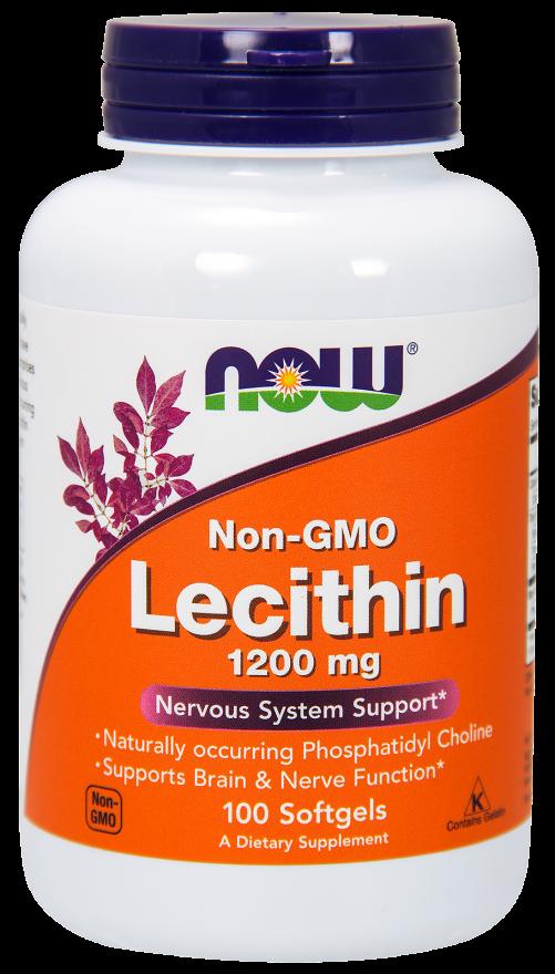 Лецитин, Lecithin, Now Foods, 1200 мг.