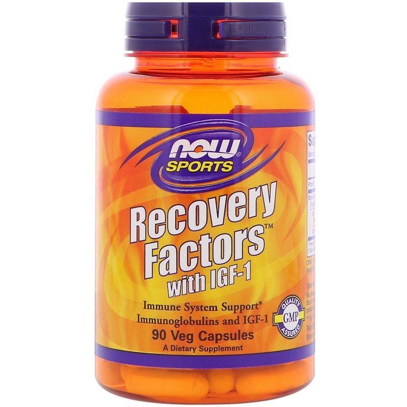 Инсулиноподобный фактор, Recovery Factors with IGF-1, Now Foods, Sports, 90 капсул