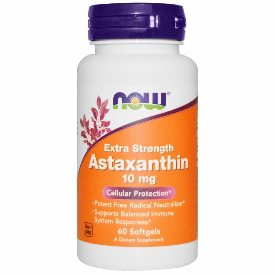 Астаксантин, Astaxanthin, Now Foods, 10 мг, 60 капсул