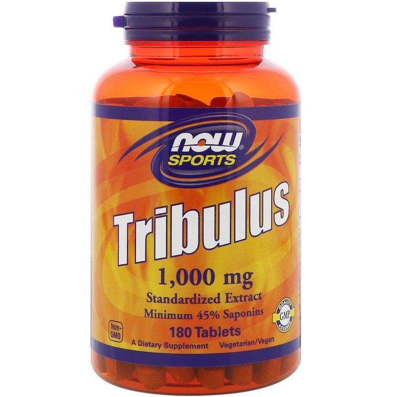 Трибулус, Спорт, Now Food, 1000 мг, 180 таблеток