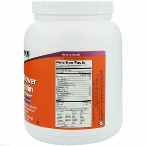 Подсолнечный лецитин, Sunflower Lecithin, Now Foods, 454 г