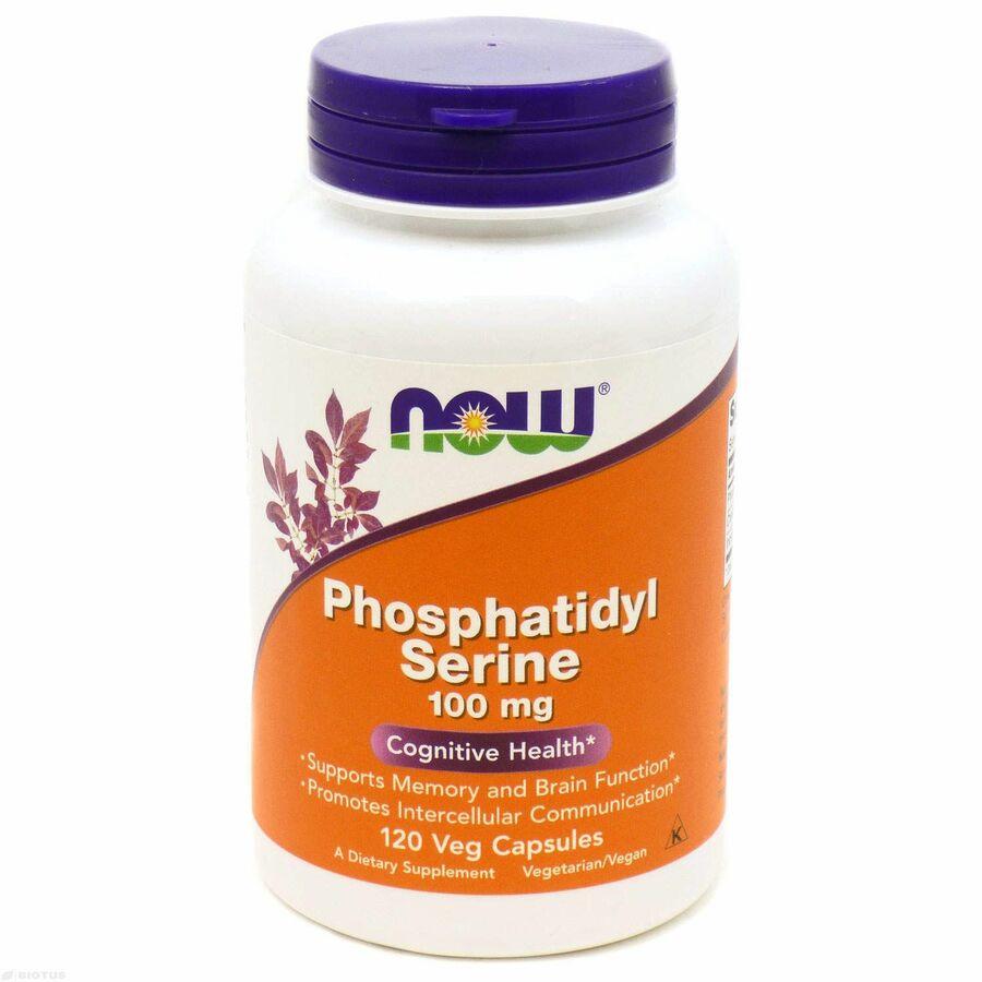 Фосфатидилсерин (Phosphatidyl Serine), Now Foods, 100 мг, 120 капсул