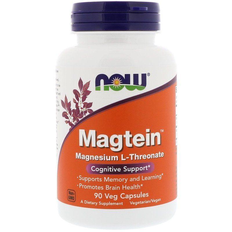 Витамины для памяти, Magtein, Now Foods, 50 капсул