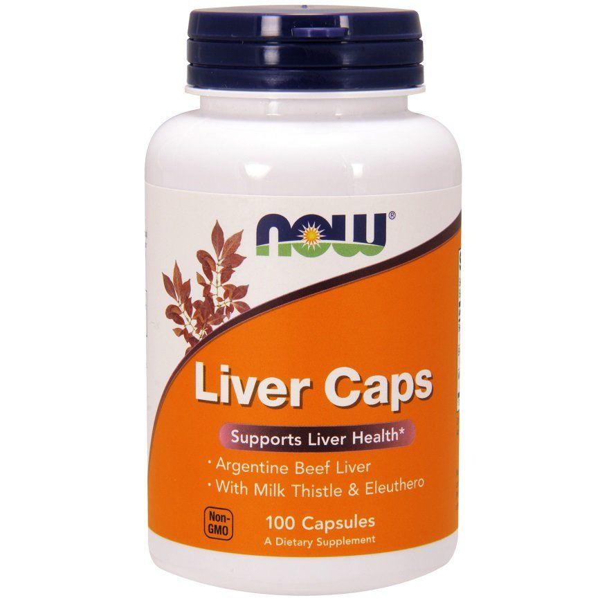 Поддержка печени, Liver Caps, Now Foods, 100 капсул