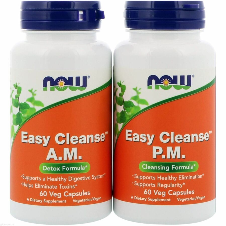 Детокс легкое очищение, Easy Cleanse, Now Foods, 60+60 капсул (2 бут.)