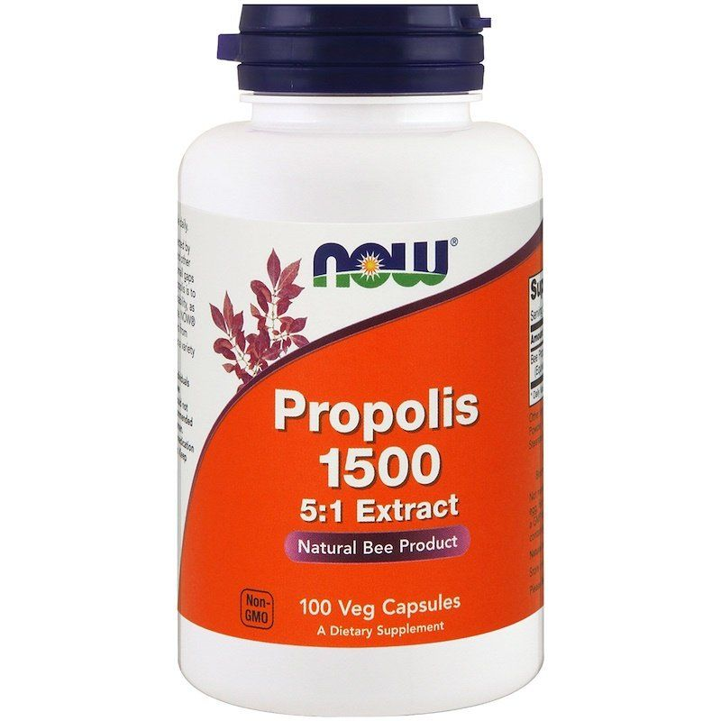 Прополис, Propolis 1500, Now Foods, 100 капсул