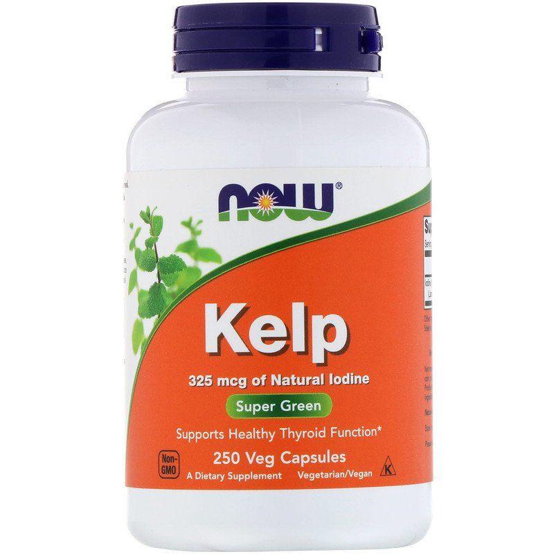 Ламинария, Йод, Kelp, Now Foods, 250 капсул
