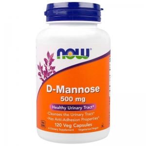 Д-Манноза, D-Mannose, Now Foods, 500 мг, 120 капсул