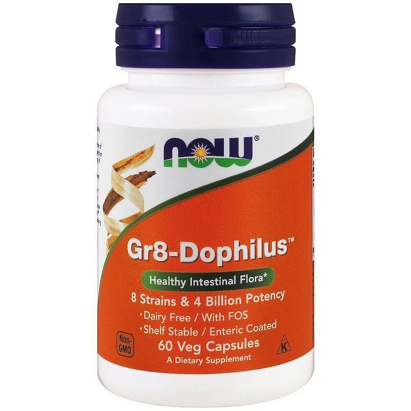 Пробиотики, Gr8-Dophilus, Now Foods, 4 млрд КОЕ