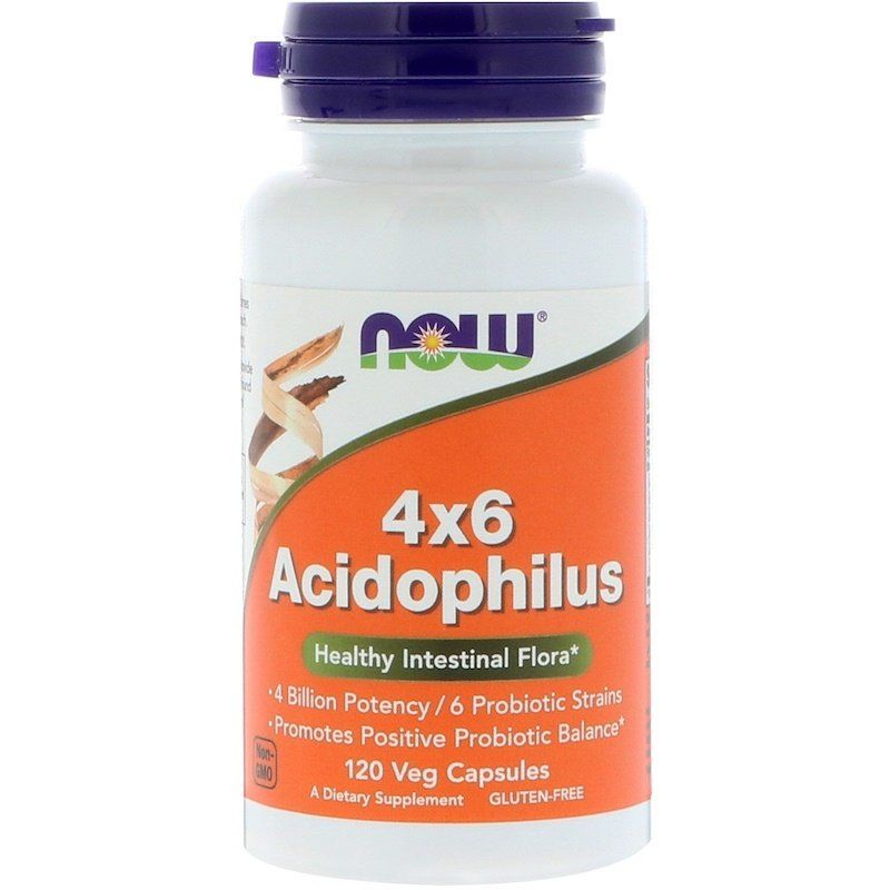 Пробиотики, 4x6 Acidophilus, Now Foods