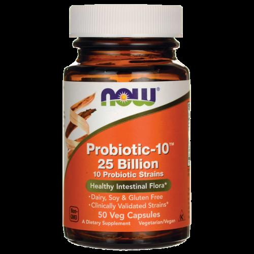 Пробиотик-10, Probiotic-10, 25 Billion, Now Foods