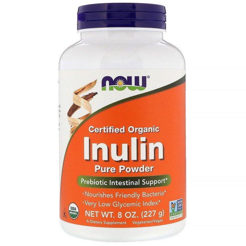 Инулин органический, Inulin, Now Foods, порошок, 227 г