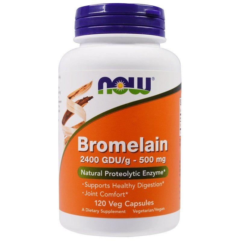 Бромелайн, Bromelain, Now Foods, 500 мг.